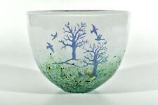 KOSTA BODA Glas Vase November ° Emaillie Dekor ° Design Kjell Engman