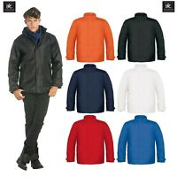 B&C Mens Real+Heavy Weight Jacket Waterproof Padded Winter Hood Coat Sizes S-3XL