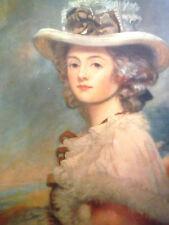 "1926 ""Miss Davenport"" after George Romney hand colored Mezzotint, British School"