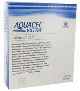 "Aquacel Extra 10 x 10cm (4 x 4"") wound dressing x10"