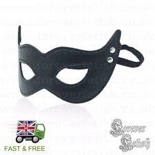 Masquerade Fetish Eye Cover Mask Bondage Swinger Wife Hide Face Blindfold Black