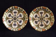 "2 Royal Crown Derby Old Imari 1128 9"" Plates 1891-1921 Marking EXC"