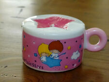 VINTAGE 1976 SANRIO LITTLE TWIN STARS CERAMIC TEA CUP STAR CANDLE UNUSED