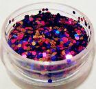 Blue & Purple Holographic Sparkle Glitter Nail Art DIY Decoration Accessory