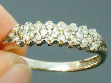 9ct 0.25ct Oro Diamante Anillo tamaño que caracteriza la eternidad Vintage