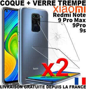 COQUE POUR XIAOMI REDMI NOTE 9S 9 PRO 9 PRO MAX + VERRE TREMPE PROTECTION ECRAN