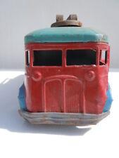 Jouet bus tôle mécanique à clé jouet ancien made in France