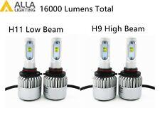 Alla Lighting LED High Low Beam Headlight Bulb Light Kit for VOLVO, Xenon White