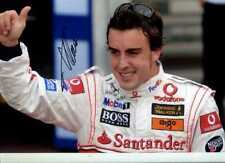Fernando Alonso McLaren F1 retrato Monaco Grand Prix 2007 Firmado fotografía