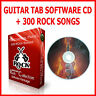 GUITAR TAB TABLATURE LEARNING CD + 300 ROCK SONG BOOK BEST OF GREATEST HITS