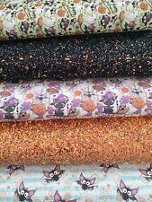 CHUNKY Glitter Fabric Bundle Various Colour Packs A6 Sheets x4-10cm x 15cm