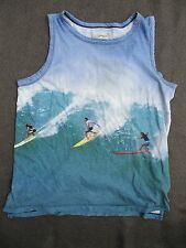 CURRENT ELLIOTT Santa Cruz Days surfer cotton muscle tank top t-shirt 3