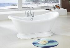 882a PEDESTAL FREE STANDING BATHTUB & FAUCET AND DRAIN SET clawfoot