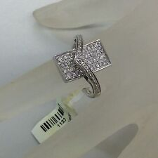 14kt White Gold Unique Design Diamond Ladies Ring 0.63tcw