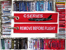 Keyring Bombardier CSERIES CS100 tag Remove Before Flight for Pilots