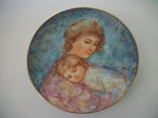 """Hibel Mother's Day Plate for 1984 """"Abby and Lisa"""" Knowles Fine China"""