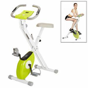 Indoor Folding Exercise Bike Adjustable Aerobic Training Fitness Cardio LCD Home
