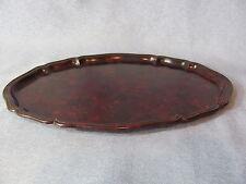 Bakelit Tablett Ablage 18x26 cm Haushalt oval rotbraun antik art deco