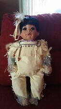 """World Gallery 18"""" Blue Sky American Indian Doll Lmtd Edition Signed Numbered NIB"""