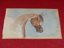 [EQUITATION CHEVAUX HORSES] DESSIN ORIGINAL ANCIEN AQUARELLE water color (32)