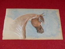 [EQUITATION CHEVAUX HORSES] DESSIN ORIGINAL ANCIEN AQUARELLE water color (32)