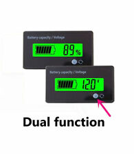 Multifunctional 12V Green LCD Lead-acid Battery Capacity Monitor Gauge Meter
