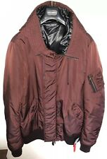 65% OFF DOLCE & GABBANA Leather Trimmed Bomber Jacket With Hood 3XL IT60