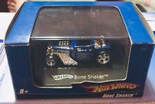 🏁 Hot Wheels 2007 Blue Mini Bone Shaker - w/Case - L7180 🏁