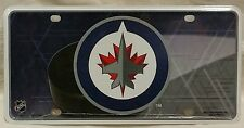 Winnipeg Jets NHL Rico Metal Tag Blue Gray License Plate