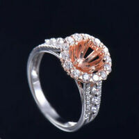 Round 6.5mm Natural VS Diamond Semi Mount Engagement Ring Setting Solid 14K Gold