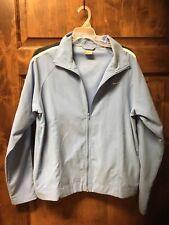 Womens Nike Windbreaker Jacket Size Large EUC Blue w/ Navy Stripe