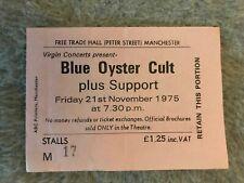 Blue Oyster Cult concert ticket 21 November 1975 - first European Tour