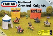 EMHAR 1/72nd Scale Medieval Crested Knights Plastic Figures Set 7210 NEW!