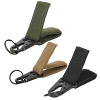 Men Outdoor Camping Military Belt Buckle Hunting Lock Equipment Keys Carabiner