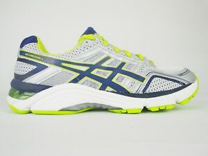 Asics Gel Fortitude 6 (2E) T2B0N White Blue Lace Up Running Shoes Trainers