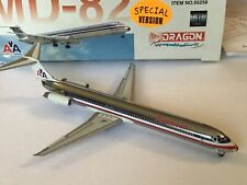 Rare Special Version Dragon Wings Chrome MD 82 American Airlines 1/400 MIB