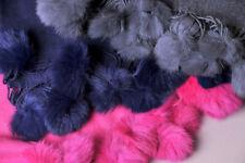 Motif  UnisStyle  FoulardCouleur  Bleu. ECHARPE Etole laine cachemire  pompons fourrure Gris-Marine-Fuchsia NEUVES ae742c8b60b