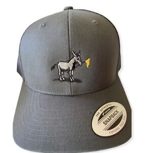 NWT SCOTTY CAMERON GALLERY JACK The DONKEY Snapback Mesh Hat Charcoal Pinflag