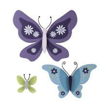 NoJo Beautiful Butterfly 3 Piece Wooden Butterflies Shaped Wall Decor,