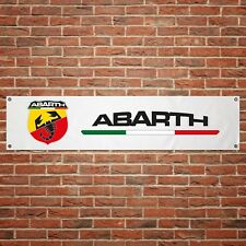 Fiat Abarth Banner Garage Workshop PVC Sign Trackside Motorsport Car Display