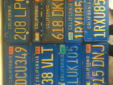 AWESOME California BLUE License Plate Plates Singles Pairs