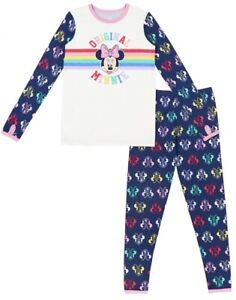 MINNIE MOUSE Poly Spandex Top and Pant Thermal Underwear set Size 6/7 pajamas