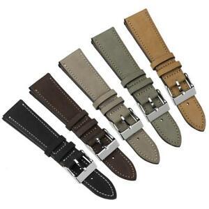 Radford Hand-Stitched Top-Grain Nubuck Leather Watch Strap 20mm 22mm