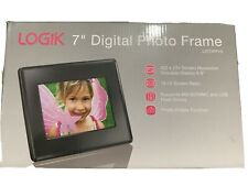 "Logik 7"" Digital Photo Frame 16:10 Screen Supports MS/MMC & USB Rotate Function"
