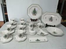 31 PC NIKKO HAPPY HOLIDAYS CHRISTMASTIME Plates-Mugs-Bowls + More