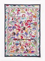 152cm Enorme Antiguo Mano Bordado Decorativo Manta Tapiz Decoración de Pared