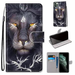 Cool Lion Boy Man Hot New Flip Antislip Card Wallet Case Cover For Various Phone