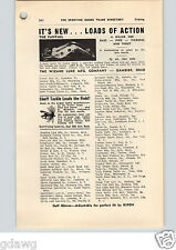 1952 PAPER AD The Wizard Fishing Lure Co Fantail Gordon Dean Wapsi Bead Head