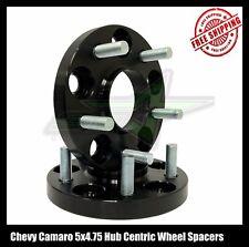 2 Chevy Camaro Black Hub Centric Wheel Spacers 20mm 14x1.5 Studs Fits SS LS LT
