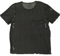ZARA Man T-Shirt Nice Men's Gray Tee Size L Short Sleeves Crew Neck 100% Cotton
